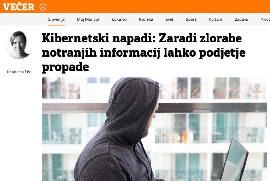 Kibernetski napadi: Zaradi zlorabe notranjih informacij lahko podjetje propade